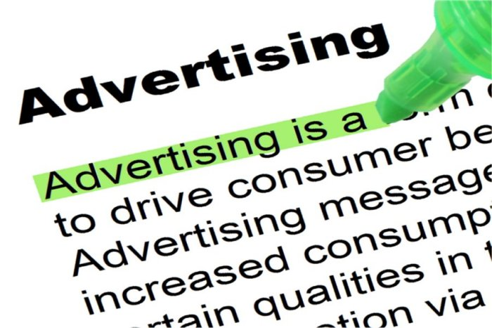 advertising highlighted
