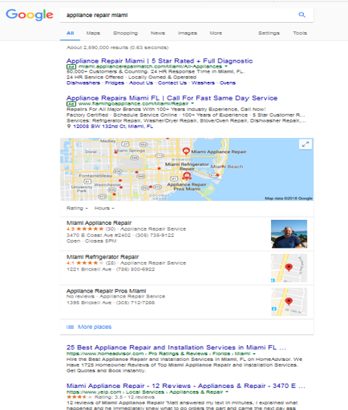 appliance repair search engine optimization