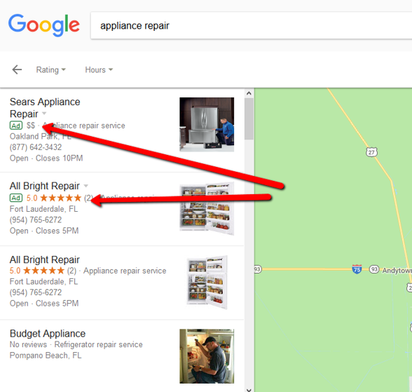PPC Ads In Google Maps