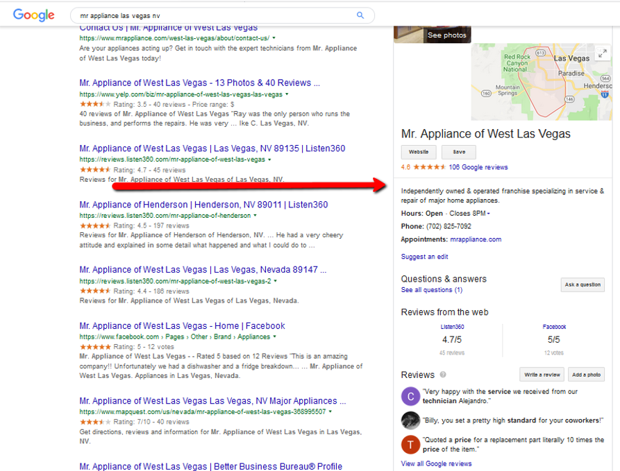 Appliance Repair Company Knowledge Graph