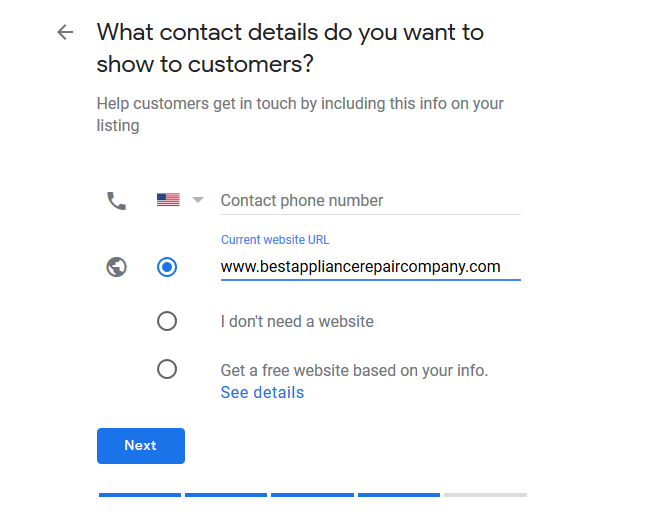 business contact info