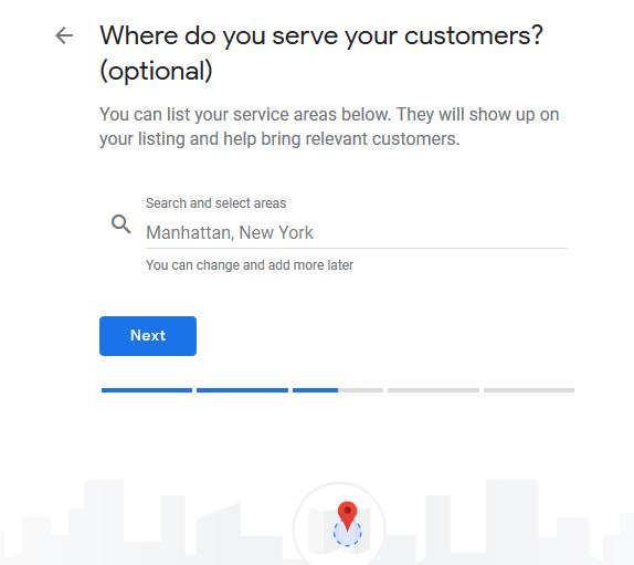 locations in service area